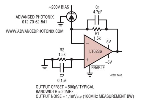 LT6237 Low Power Avalanche Photodiode Transimpedance
