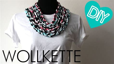 DIY Kette oder Armband aus Wolle - YouTube