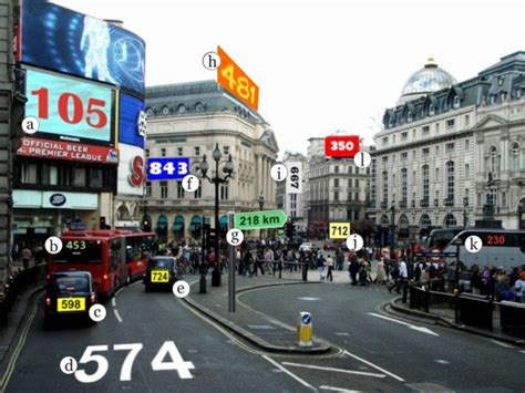 English Exercises: London - Piccadilly Circus
