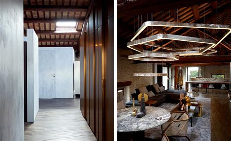 Inside a couple's 17th century granery loft home in Italy