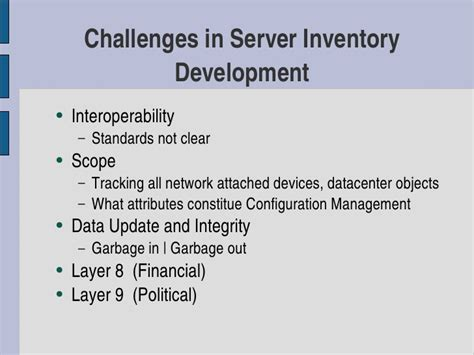 Server Inventory Using Free, Open Source, and Proprietary