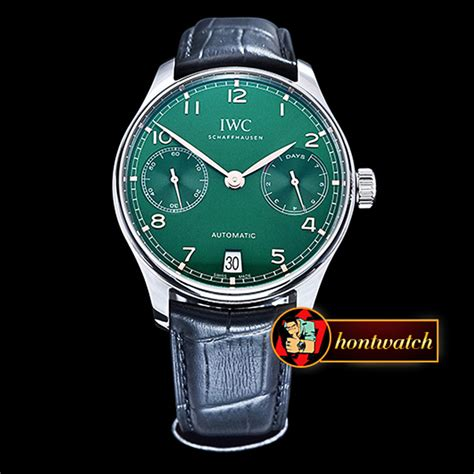 IWC Portugese 5007 SS/LE Green/Gold Num ZF A52010 Mod replica