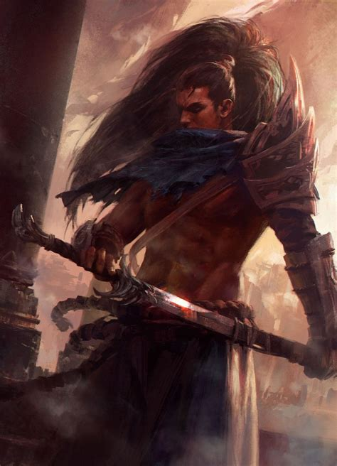 Yasuo, Mazert Young on ArtStation at https://www