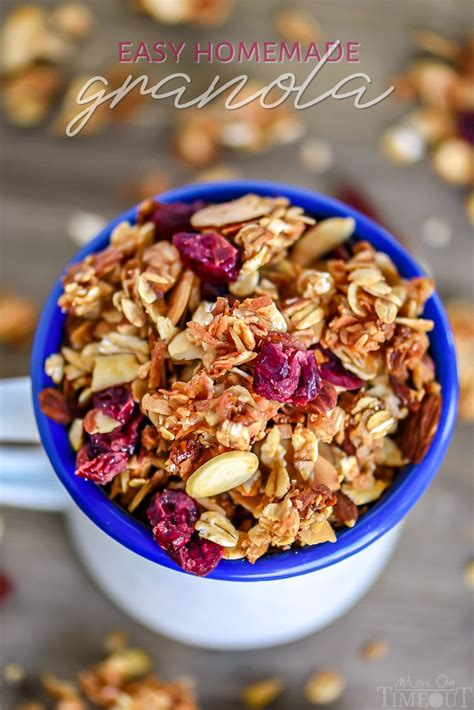 Easy Homemade Granola - Mom On Timeout